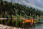 Canoeing, Edziza Provincial Park British Columbia, Canada
