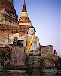 Bouddha en ruines d'Ayuthaya Mat Yai Chai Monkoi, Thaïlande