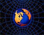 Globe and Grid North America