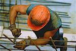Overhead View of Construction Worker, Toronto, Ontario, Canada