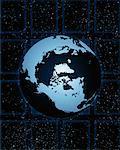Globe en Amérique du Nord et du Pacifique