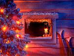 Sapin de Noël et de fenêtre