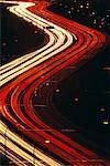 Streaking Lights on Highway at Night, Gardiner Expressway Toronto, Ontario, Canada