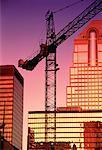 Construction Crane at Sunset Calgary, Alberta, Canada