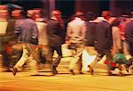 Blurred People Walking on Street Toronto, Ontario, Canada