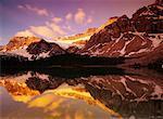 Mount Crowfoot and Bow Lake Banff National Park Alberta, Canada