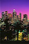 City Skyline at Night Los Angeles, California, USA