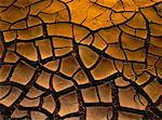 Close-Up of Dried Mud Flats Morris, Manitoba, Canada