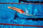 Frau Schwimmen Tallahassee, Florida, USA
