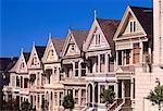 Reihenhäuser bei Alamo Quadrat San Francisco, Kalifornien, USA