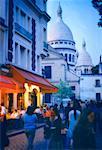 Cafe at Dusk Montmartre, Paris, France