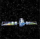 Communications par satellite reflétant Globe