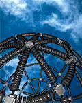 Telephone Cord Sphere in Sky