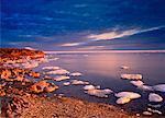 Bird Cove au lever du soleil de la baie d'Hudson, Manitoba, Canada