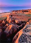Coast of Hudson Bay at Sunset Near Churchill, Manitoba, Canada