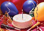 Kuchen mit Party Favors