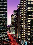 Paysage urbain de nuit de Calgary, Alberta, Canada