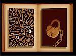 Skeleton Keys and Antique Lock