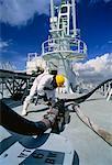 Déchargement produits chimiques de l'éthylène Singapour