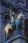 Equestrian Sculpture Sacre Coeur, Paris, France