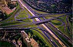 Aerial View of Highway Cloverleaf, Toronto, Ontario, Canada