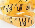 Gros plan du ruban à mesurer