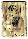 Portrait of Boy with Water Gun