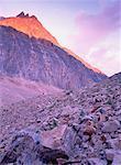 Path of the Glacier Trail, Mt. Edith Cavell, Jasper National Park, Alberta, Canada
