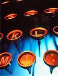 Close-Up of Antique Typewriter Keys