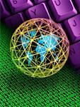 Binary Code, Computer Keyboard And Globe