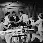 Business Handshake in Meeting