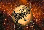 Fil Globe avec anneaux en Europe et en Amérique du Nord espace