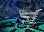 Panier d'achat dans le paysage de l'Internet