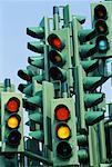 Traffic Lights Canary Wharf London, England