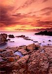 Sunrise over Atlantic Ocean Near Louisbourg, Nova Scotia Canada