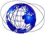 Wire Globe and Rings, Atlantic Ocean