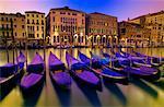 Gondolas in the Grand Canal Venice, Italy