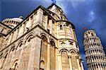 Duomo et la tour ou Pise Pise, Toscane, Italie