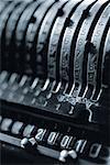 Close-Up of Antique Adding Machine
