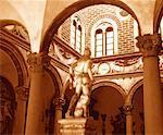Cour et Statue de Florence, Toscane, Italie