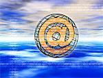 @ Symbol, Wire Globe and Binary Code