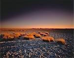 Sunset Over Makgadikgadi Pan, Botswana