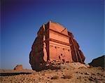 Nabatean Tomb Ruins at Medain Saleh, Saudi Arabia