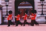 Buckingham Palace and Guards London, England