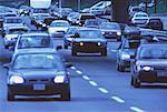 Autoroute trafic Gardiner Expressway Toronto, Ontario, Canada