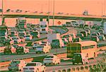 Traffic on Highway 401 Toronto, Ontario, Canada