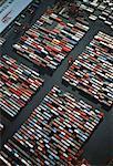 Vue aérienne de fret Container Terminal, Kowloon, Hong Kong Chine