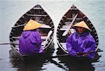 Fishermen on Boats Hoi An, Vietnam