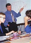 Businessman Giving Presentation Using White Board