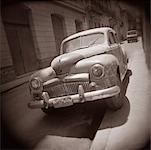 Classic Car on Side of Road Havana, Cuba